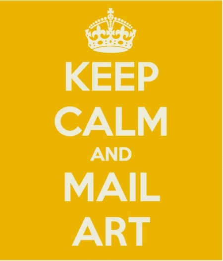 keep calm and mail art